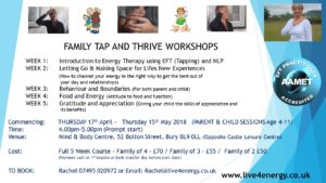 FAMILY TAP AND THRIVE WORKSHOPS
