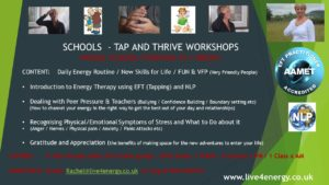 SCHOOLS  -TAP AND THRIVE WORKSHOPS